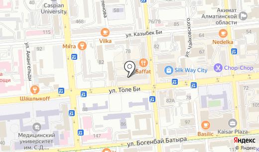 Ар. Схема проезда в Алматы