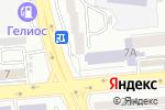 Схема проезда до компании Кайнар в Алматы