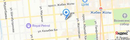 Nur на карте Алматы