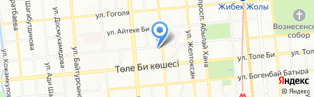 Nuka Travel на карте Алматы