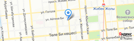 Адвокатская контора Алтыбаевой Л.Р. на карте Алматы