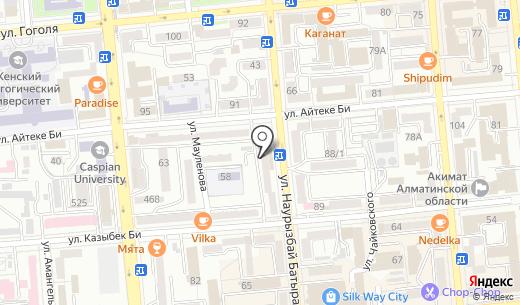 ТехноDom. Схема проезда в Алматы