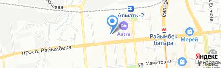 Климатика на карте Алматы