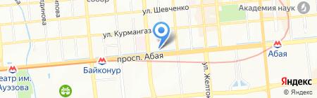 Айнек на карте Алматы