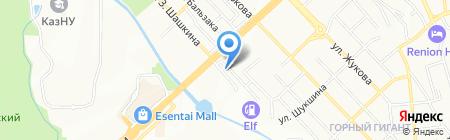 Гражданпроект ЗИ на карте Алматы
