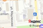 Схема проезда до компании Оздоровительная сауна на Мауленова в Алматы