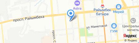 Алсан на карте Алматы