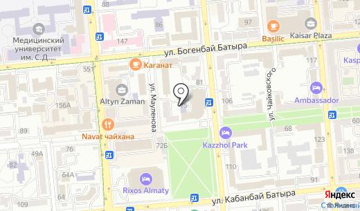 Оздоровительная сауна на Мауленова. Схема проезда в Алматы