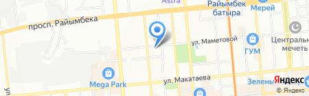 Медсервис Плюс на карте Алматы