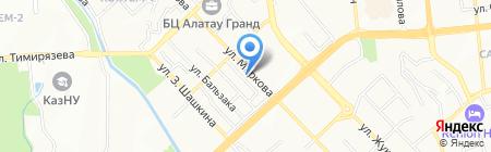 Алейрон на карте Алматы