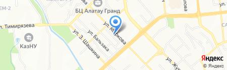 Атшабар на карте Алматы