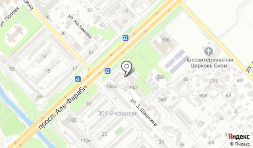 iPoint. Схема проезда в Алматы