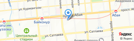КазНАУ на карте Алматы