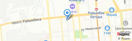 Частный сектор Караван на карте Алматы