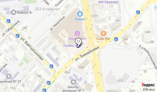 АЗС Helios. Схема проезда в Алматы