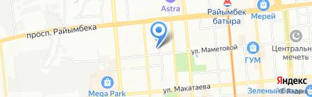 First Universal на карте Алматы