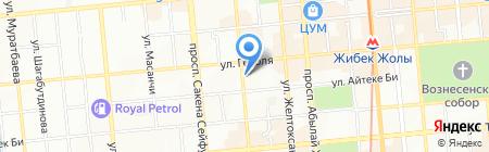 Подсолнухи на карте Алматы