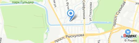 Наклей фон Казахстан на карте Алматы