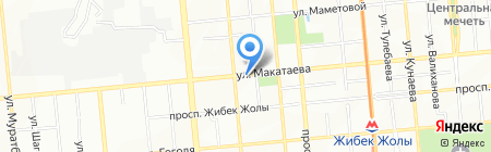 Нотариус Бурибаев Е.А. на карте Алматы