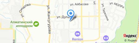 Ынтымак на карте Алматы