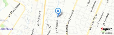 Три Розы на карте Алматы