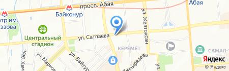ВиЗ на карте Алматы