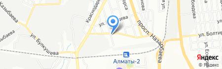 ЖетысуАгро продуктовый магазин на карте Алматы