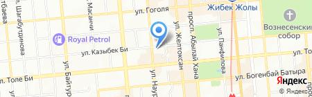 Алмалы на карте Алматы