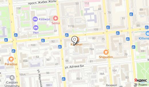 ЮРЭКС. Схема проезда в Алматы