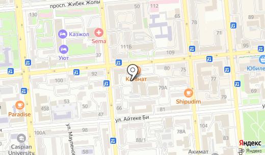 Route. Схема проезда в Алматы