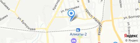 Ясли-сад №17 на карте Алматы