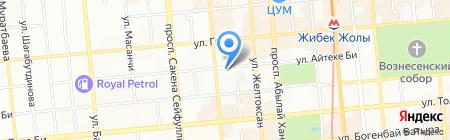 Центральный видеопрокат на карте Алматы