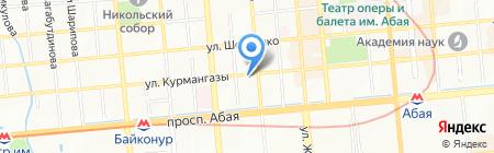 ДИХК АХК на карте Алматы