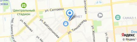 Transavia на карте Алматы