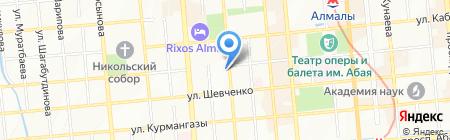 Шиномонтажная мастерская на ул. Наурызбай батыра на карте Алматы