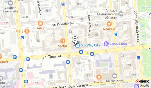 Бутик сотовых аксессуаров. Схема проезда в Алматы