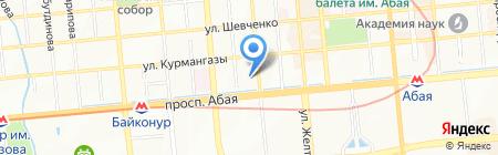 Бату-Курылыс на карте Алматы