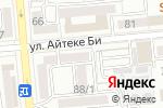 Схема проезда до компании Лиза. Добрые советы в Алматы