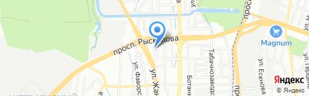 ТЕМП на карте Алматы