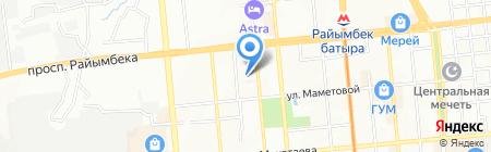 Три А на карте Алматы