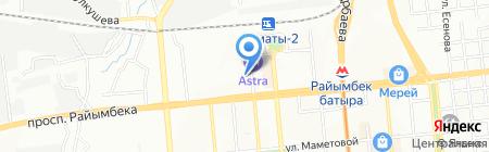 Центр авторазбора на ул. Желтоксан на карте Алматы