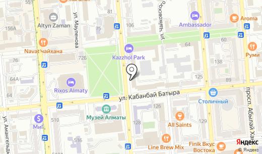 Южное региональное УБОП. Схема проезда в Алматы