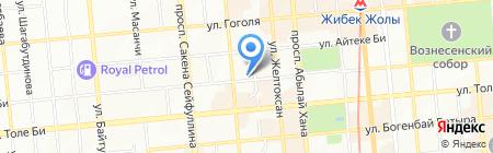 Берен на карте Алматы