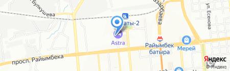 Бережные перевозки на карте Алматы