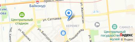 Нотариус Казакеева С.С. на карте Алматы
