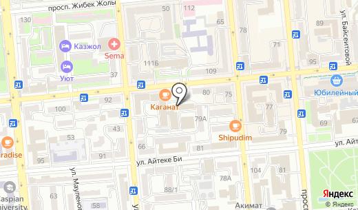 КиберПлат Казахстан. Схема проезда в Алматы