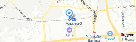 Линейное отделение полиции на станции Алматы-2 на карте Алматы