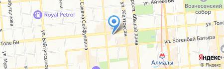 Куат на карте Алматы