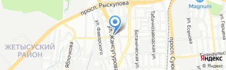 Алеся на карте Алматы