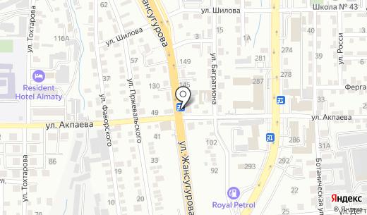 Татьяна продуктовый магазин. Схема проезда в Алматы